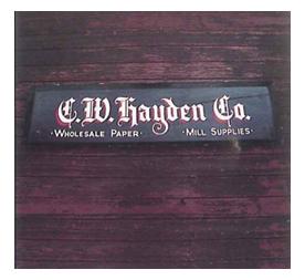C.W. Hayden Origional Sign